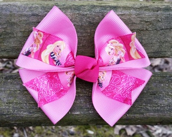 Pink Barbie Hair Bow (4 inch)
