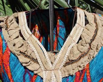 Handmade print tunic