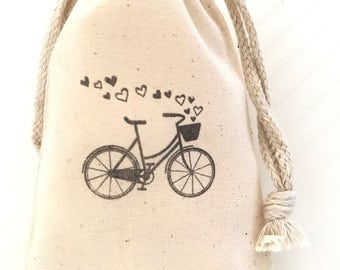 10 Bicycle Favor Bags - Bike Party Favors Wedding Favors - Custom Favor Bags - Adventure Favor Bags - Bicycle Party Favor Bags