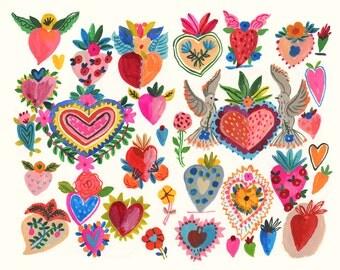 Milagros love hearts