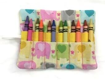 Crayon Wrap - Crayon Roll Up - Child's Gift - Birthday Gift - Crayon Organizer