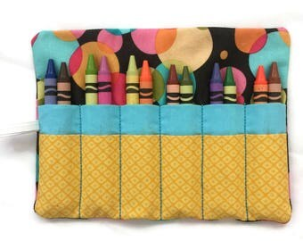 Crayon Roll Up - Crayon Organizer - Crayon Wrap - Child's Birthday Gift - Travel Toy