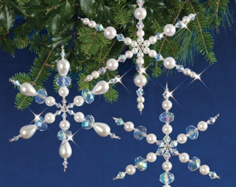 Sparkling Snowflakes Beaded Christmas Ornament Kit (SNOWFL)