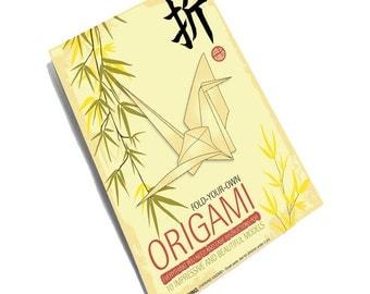 Origami Set, Origami kit, Paper Folding Set, Learn Origami, Origami Gift Pack, Origami Paper Kit, Origami Gift Set, Christmas Origami Gift