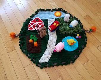 Farm Yard Play Mat with 6+ figures - Amigurumi