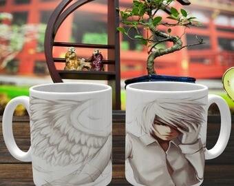Anime Mug 'White Angel' Coffee Mug, Coffee Cup, Ceramic Mug