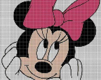 Minnie Mouse head cross stitch