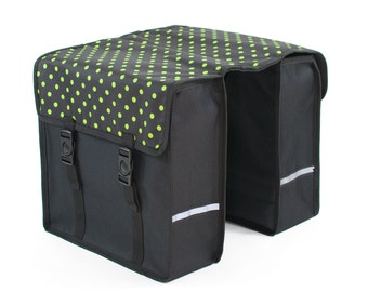 Beluko® Classic Double Pannier Bag Bicycle Cycle Bike Floral Women's - Mens