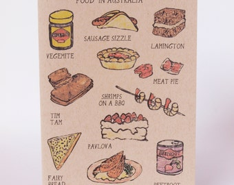 Greeting Card - Food in Australia