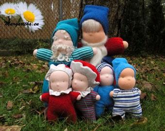 Custom waldorf tomten doll, elf, leprechaun, handmade, small doll, gnome doll, manikin doll, fabric doll, rag elf doll, cloth doll