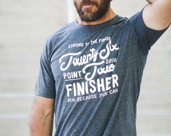 Marathon Finisher Tee 26.2 //  2016 Miles and Pace