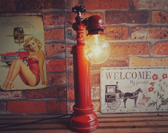 Industrial iron pipe lamp; faucet switch, valve switch, pipe lamp; edisonlamp; industrial lamp; vintage edison lamp; valve lamp; pipe lamp