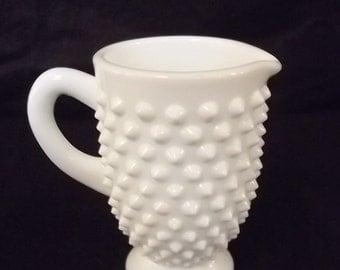 Milk Glass Creamer w/Hobnail Pattern