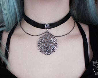Selby Black Leather Choker