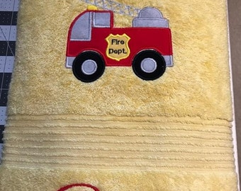 Fire Truck Bath towel