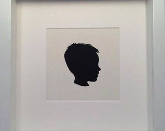 PERSONALIZED Bespoke Framed Paper Cut-Out Silhouette of a Person / Boy / Girl