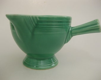 Vintage Fiesta Stick Handled Creamer Original Light Green