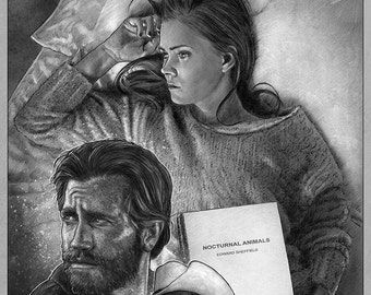Nocturnal Animals poster illustration A3 print
