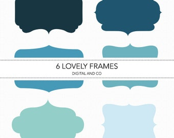 50% off - Digital Bracket Frames, Instant Download, PNG, EPS, SVG and Illustrator file included, Scrapbook, Cookies