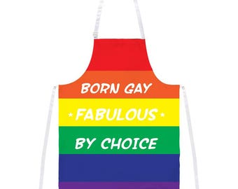 Gay Pride LGBT Born Gay All Over Apron