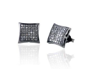 SDC-1545 Studs Square Pave Diamond Charm