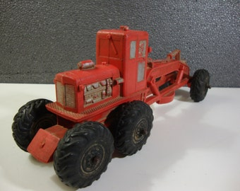 Auburn Rubber Earth Grader Vintage Construction Earth Mover Incomplete Toy Vehicle