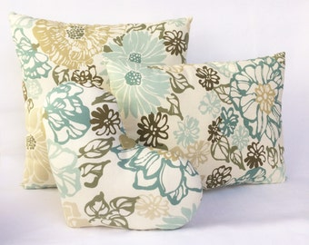 Decorative Pillow Set 16x16 in., 12x16 in. and 11x13 in. Fabric Island Delight