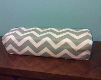 Cricut Maker and Explore/ Air/ Air 2/ One Custom Handmade Gray/White Chevron Dust Cover with (choose color) Piping
