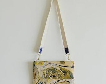 Amaris- Marble Dyed Leather Shoulder Bag