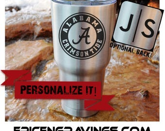 YETI or RTIC Engraved Tumbler/Alabama/Roll Tide/Alabama Crimson Tide/Alabama Football/University of Alabama/Gifts For Dad/Father's Day Gift