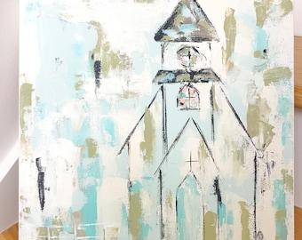 Church Painting . Church Art . Spiritual Art . Spiritual Gift