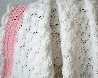 Shell Stitch Heirloom Baby Blanket