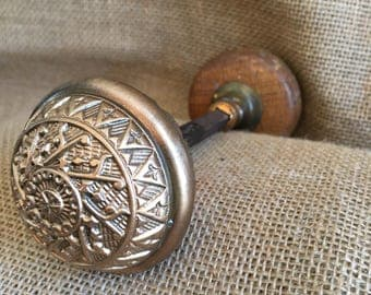 Brass/Wooden Doorknob