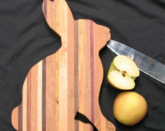 Handmade Bunny Cutting Board makes great gift for Easter and other special occasions.