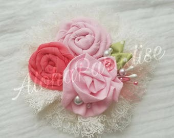 Adeline's Pink Rose Trio Flower Piece