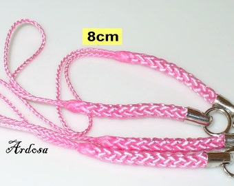 4 phone straps of pink 80 mm (K300. 4)