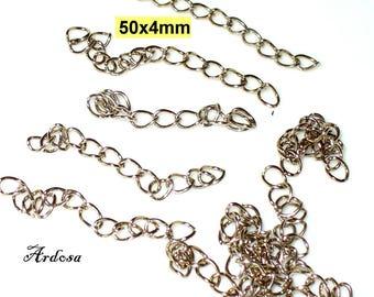 10 extension chain 5 cm Silver (212.1)