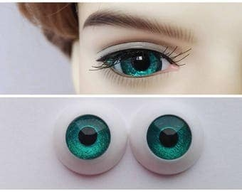 Green Doll Eyes for BJD Dollfie 8mm 10mm 12mm 14mm 16mm 18mm 20mm 22mm