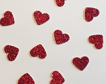 200 Scarlet Heart Confetti Heart Confetti Red Confetti Glitter Confetti Shower Confetti Baby Confetti Wedding Confetti Birthday Confetti
