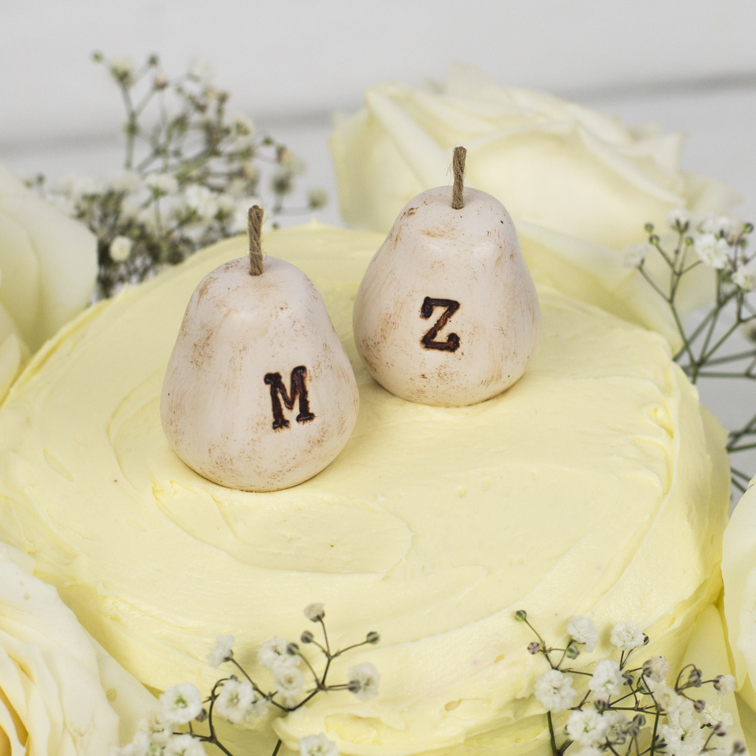 Personalised Perfect Pear Wedding Cake Toppers [E10261624442467434M ...