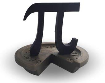 Pi Sign Day Trophy Sculpture - 3D Printed