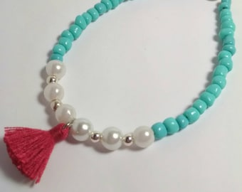 Friendship Bracelet with Tassel