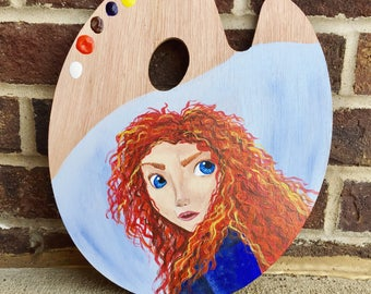 Disney Princess Merida from Brave painted palette