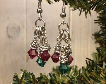 Christmas Crystals Earrings
