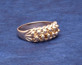 Bobble ring in 9ct gold