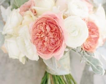Rose Ranunculus Spring Bridal Bouquet
