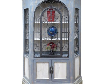 Hutch,Storage,Wrought Iron,Wood Hutch,Dining,Living,Dining Room Hutch,Cabinet,China Cabinet
