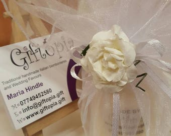Personalised candle favours