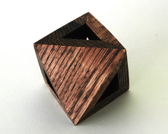 Four-Triangle Octahedron in Solid Oak
