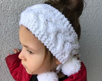 Knit Headband-Kids Ear Warmer-Hair Accessory-Little Girl Band-Kids Knitted Headband